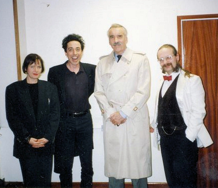 Anne Billson Nik Fiend Christopher Lee and Kim