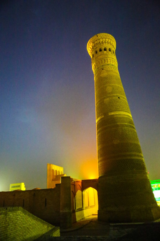 "Kaylan-minareten, ""Dödens torn"", Bukhara, Uzbekistan. Foto: Johnny Friskilä"