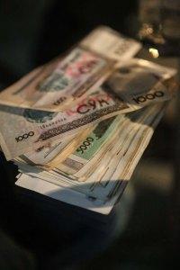 Så många uzbekiska pengar gick åt för tre pers på restaurang i Khiva, Uzbekistan. Foto: Johnny Friskilä