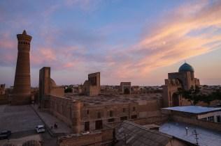 blue-hour-square-bukhara-uzbekistan