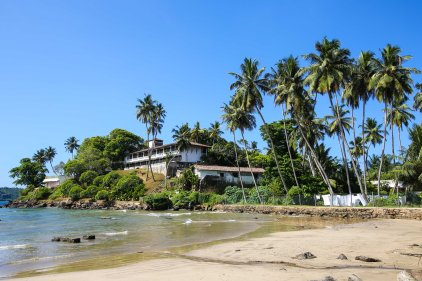 Colonial hotel Closenberg outside of Galle, Sri Lanka