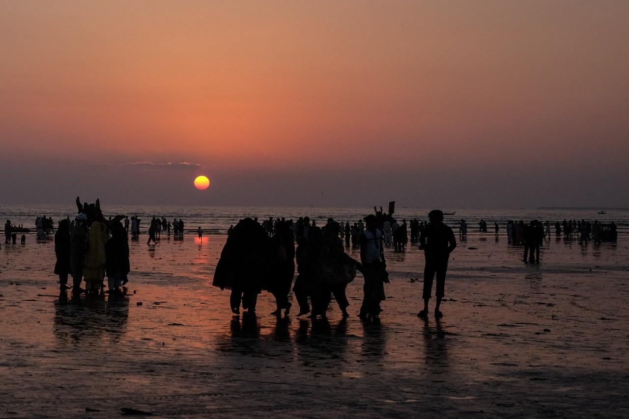 Sunset at Clifton Beach in Karachi, Pakistan
