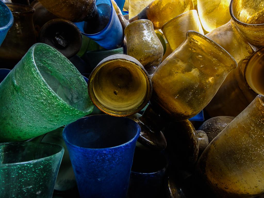 Afghanistan Herat blue green yellow glass-02982
