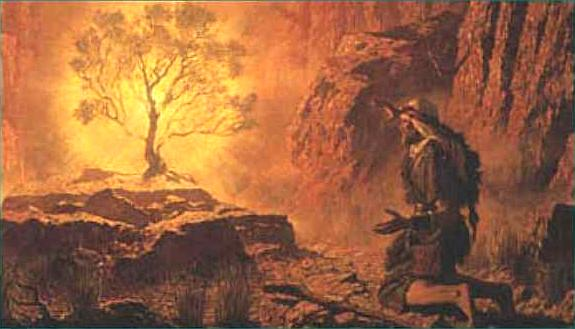 Moses and the Burning Bush by Arnold Friberg