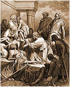 jesus miracle raised lame