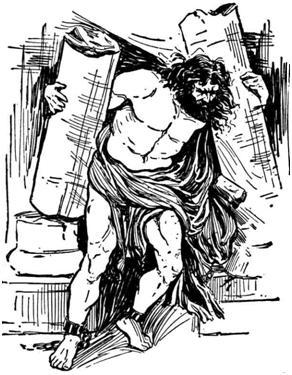 samson takes down pagan columns