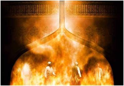 walking around in the fiery furnace