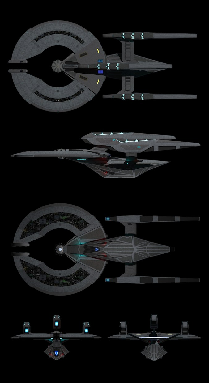 uss_invictus_advanced star trek dreadnaught