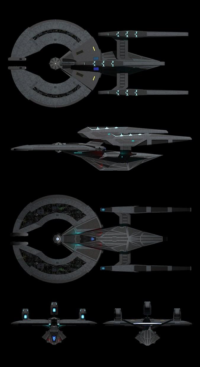 uss_invictus_advanced star trek dreadnaught