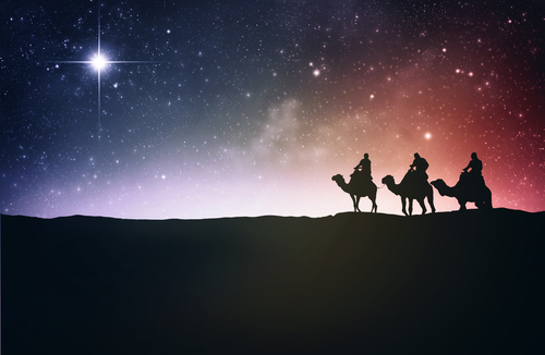 wise men following the star of bethlehem