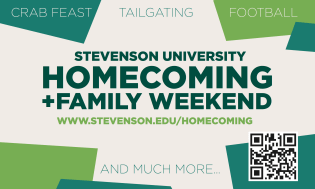 Homecoming + Family Weekend ad featured in The Villager newspaper.
