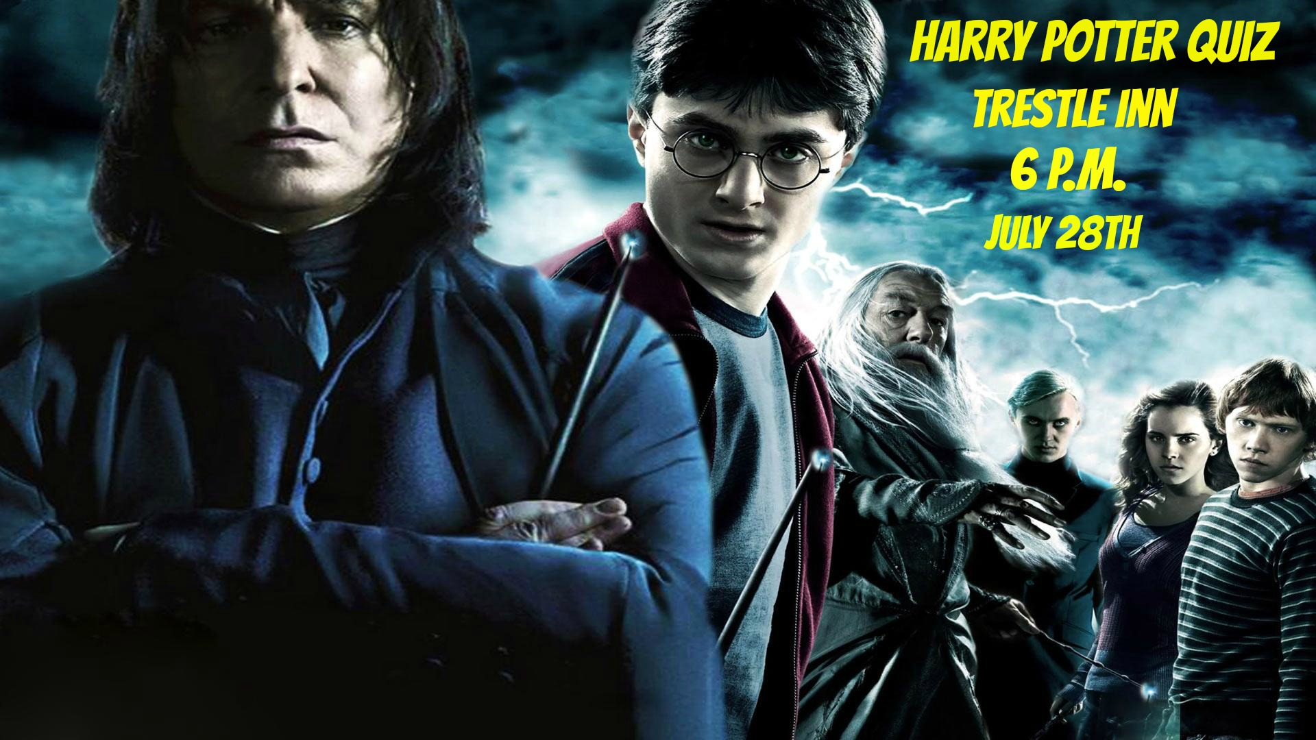 Harry Potter Quiz On July 28th At Trestle Inn