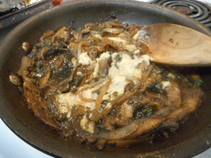 Add 1 1/2 tablespoons of the bean puree to the sauce, cook till it dissolves...
