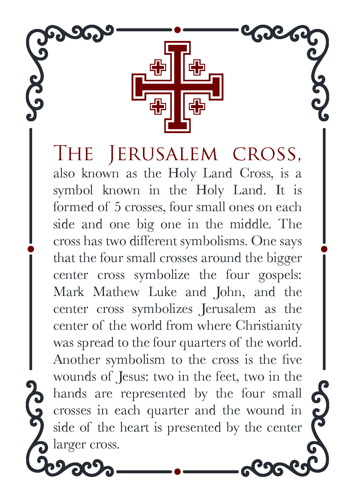 The Jerusalem Cross