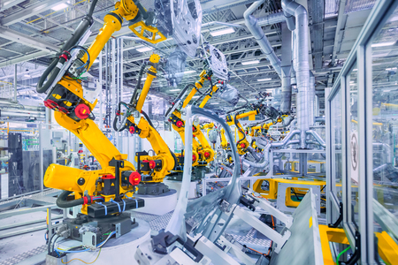 Robots in Car Plant