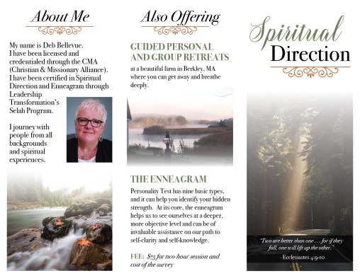 Spiritual Direction brochure (front)