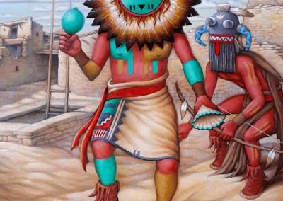 The Sun Kachina with Tuhavi