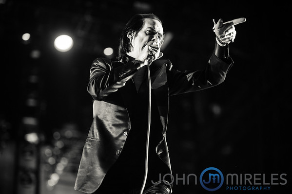 Nick Cave performing at the Coachella Music Festival