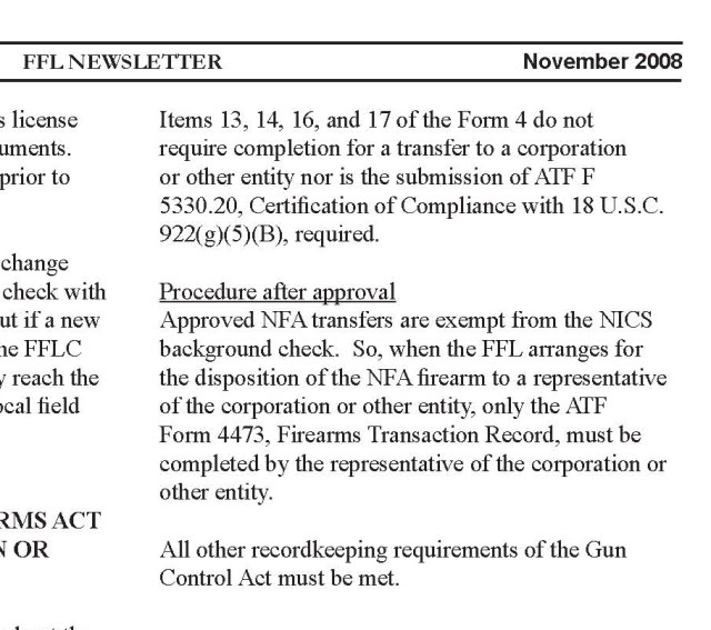 Is a background check required when picking up NFA items from a ...