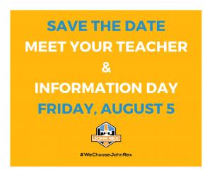 Save the Date - Meet your Teacher_Aug 5_2016