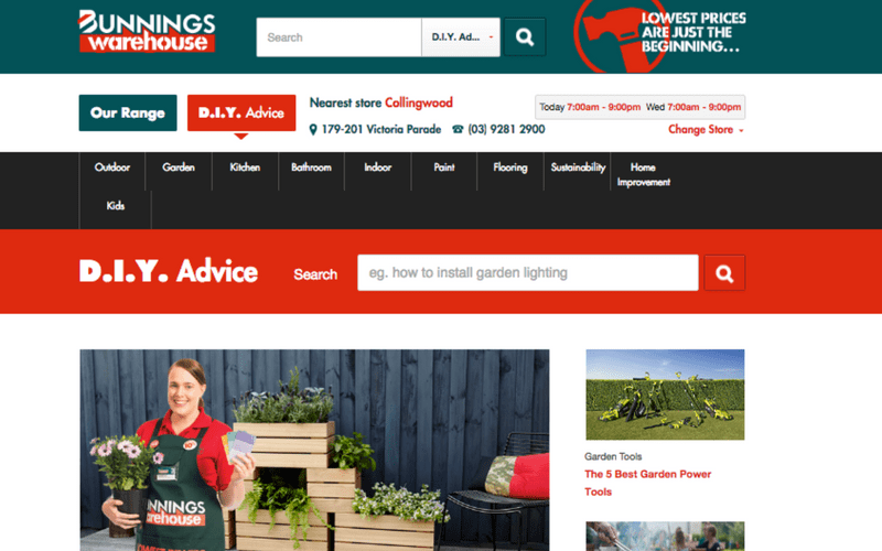 bunnings diy advice content