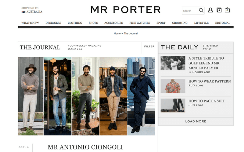 Mr Porter The Journal
