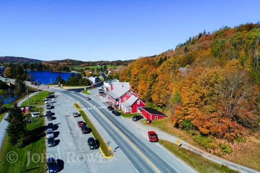 aerial photo hastings store danville vermont