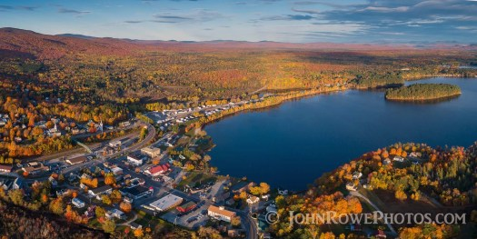 fall foliage island pond vermont