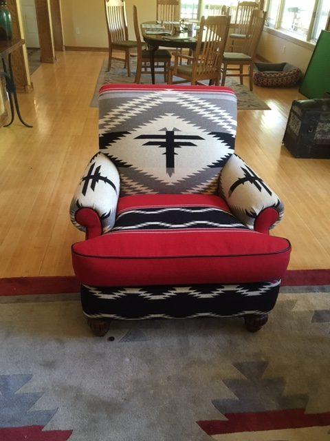 custom chair using blankets