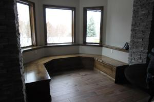 banquette without upholstery