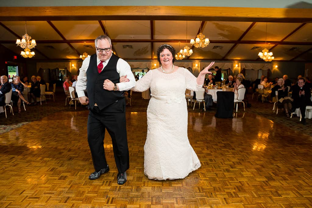 the bride and groom had a rehearsed dance.