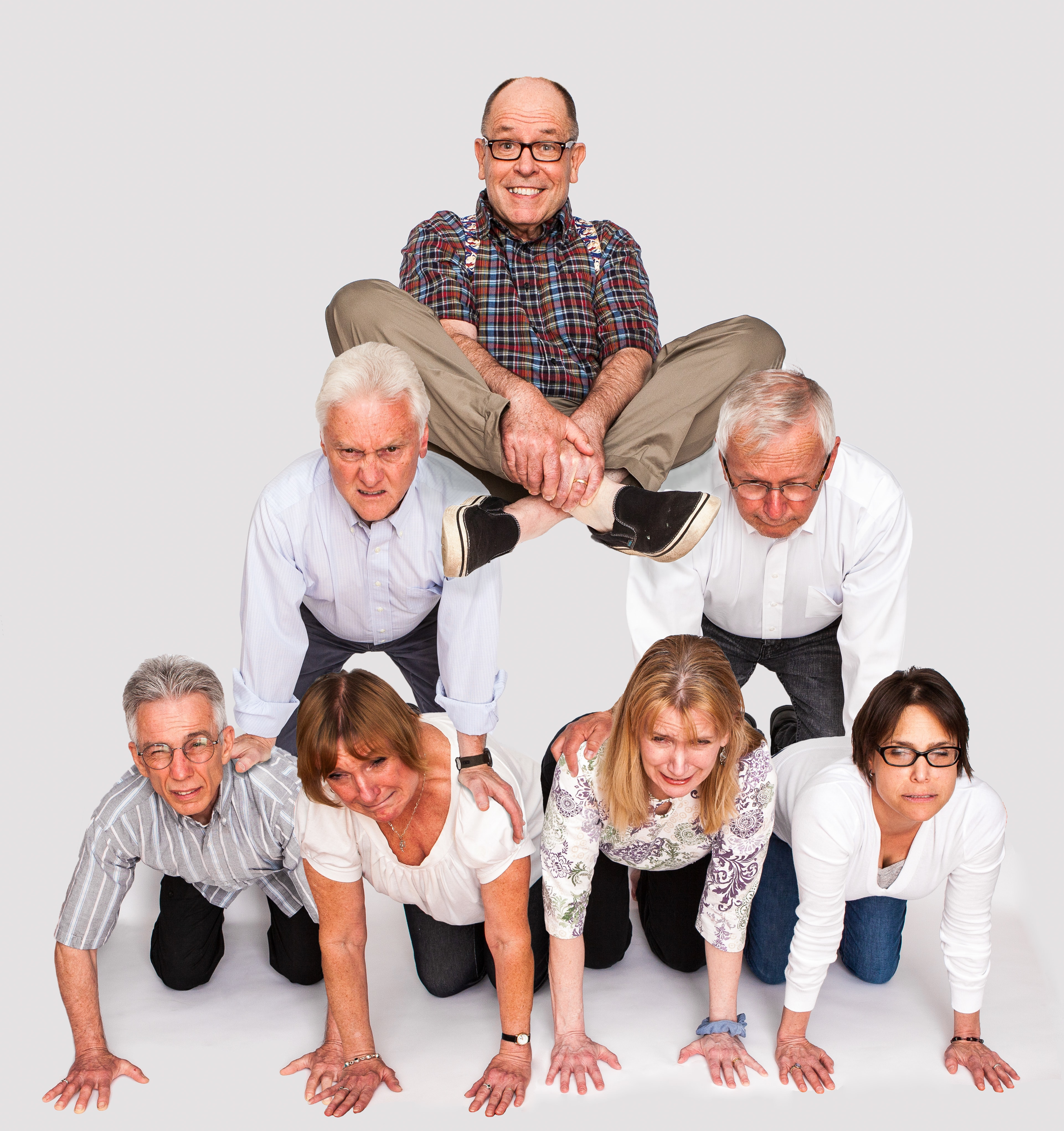 Ask me how I made this human pyramid for headshots in rochester.