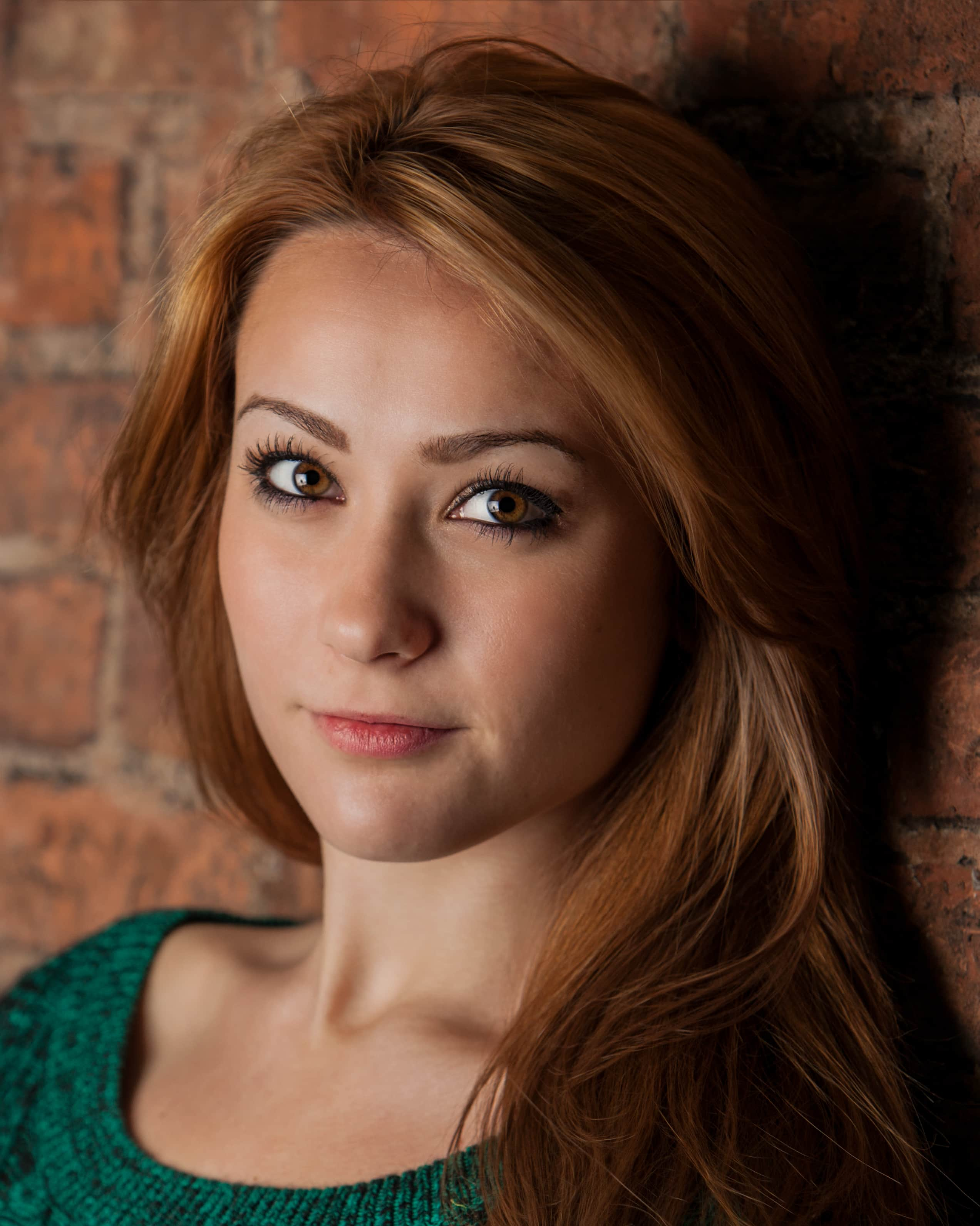 A headshot for a young actress.