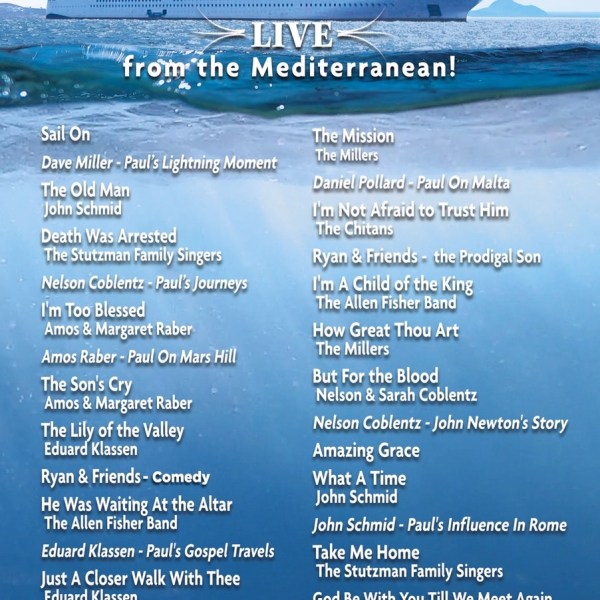 John Schmid - Live from the Meditarranean Cruise DVD
