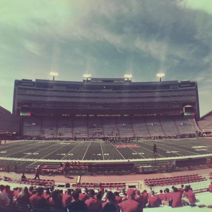 | Day 8 of 366 | Husker gameday! Whenever possible we love going down to the stadium early to watch the marching band practice. Great way to spend pregame time! #huskers #unlmarchingband #gbr #365project