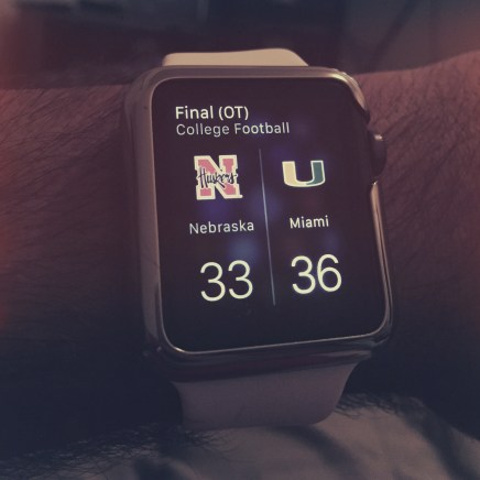 | Day 15 of 366 | Well, it was an exciting fourth quarter, but a disappointing outcome. Learn, grow and move on Huskers! #365project #photoaday #huskers #gbr #applewatch #apple #whenallelsefailsshootmywatch