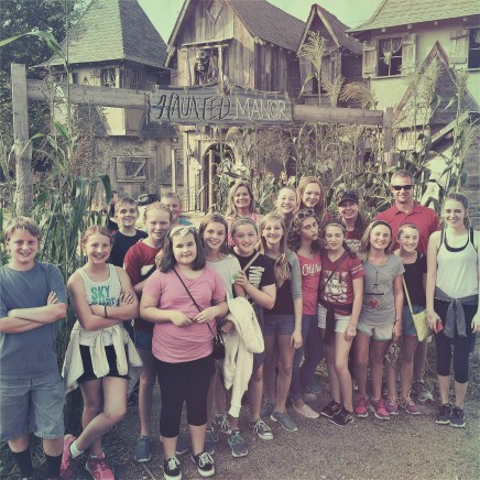 | Day 22 of 366 | Had a great time with this crew at Roca Berry Farm this evening! #Jham #youthgroup #365project #photoaday #hauntedhouse #iwasntscared #reallyiwasnt #noreally