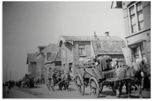 duitsers met paard en wagen