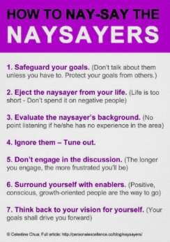 List of what to say to naysayers