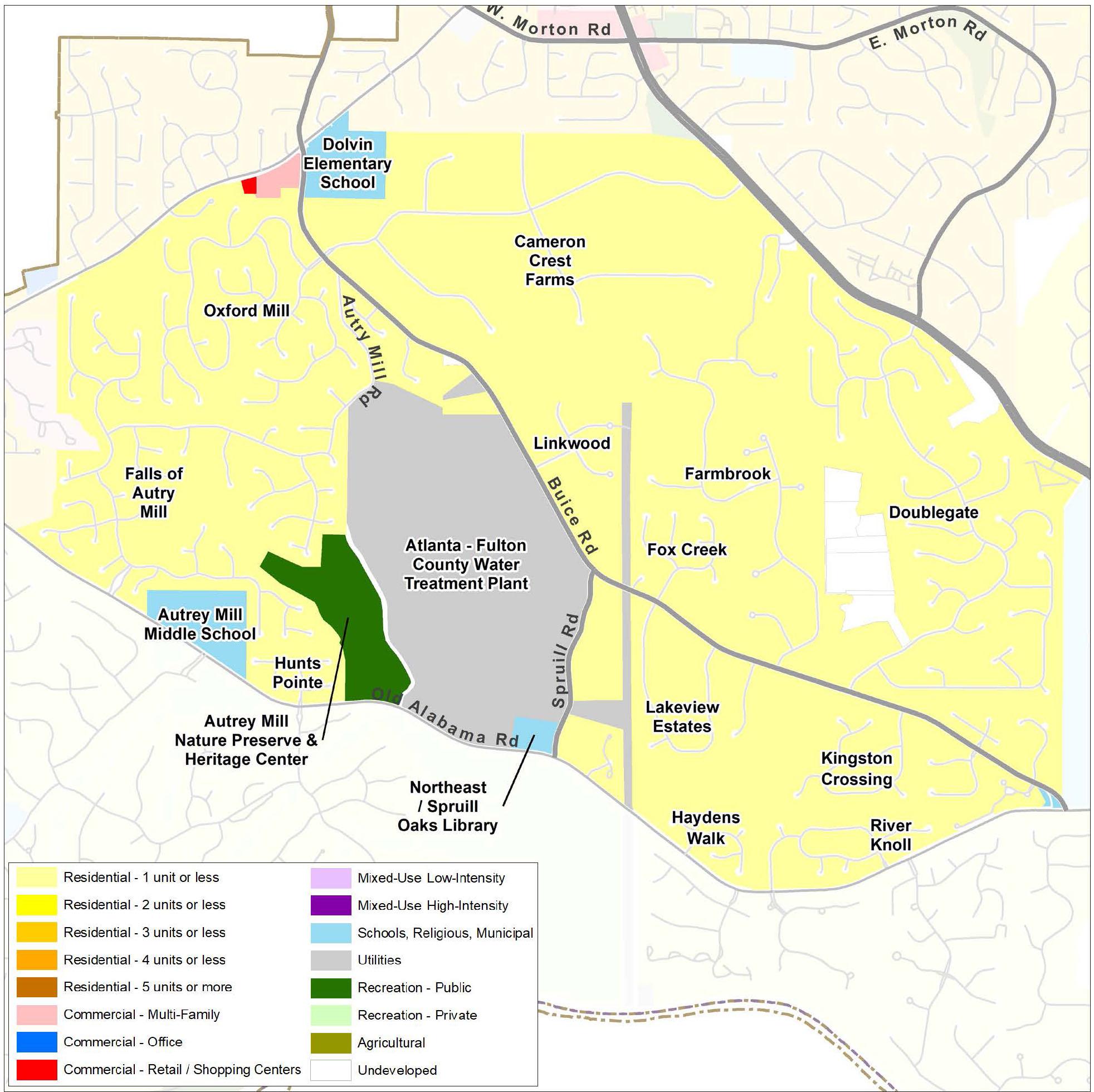 Autrey Mill: Future Land Use Map