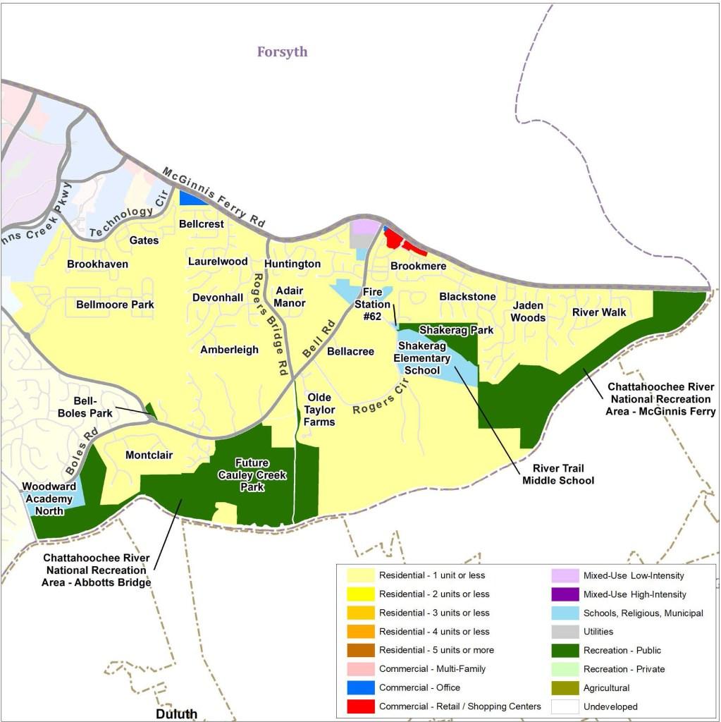 Shakerag: Future Land Use Map