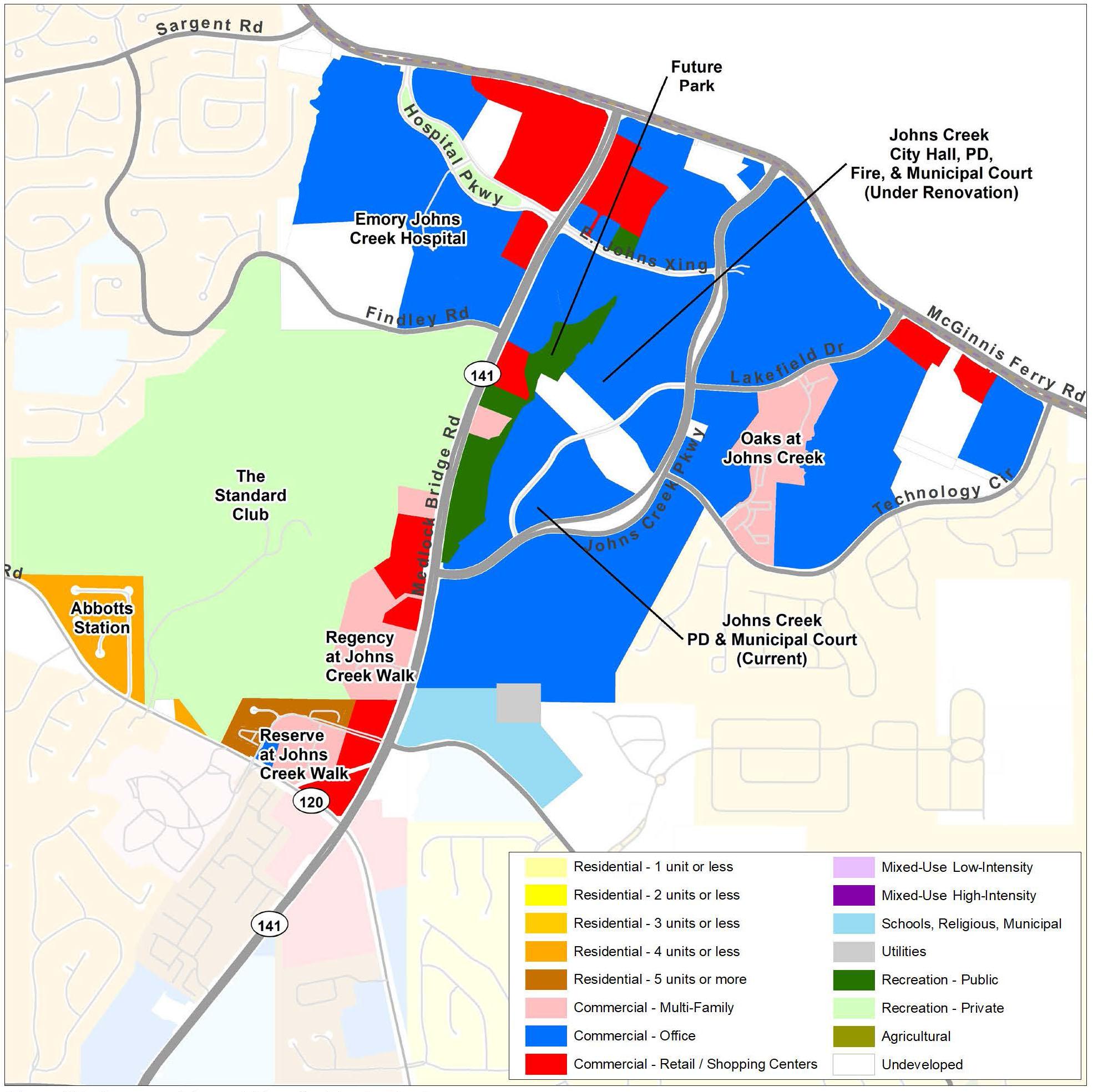 Tech Park: Current Land Use Map