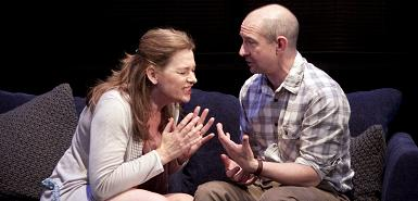 Kerry Fox and Ian Hart in 'Speaking in Tongues'
