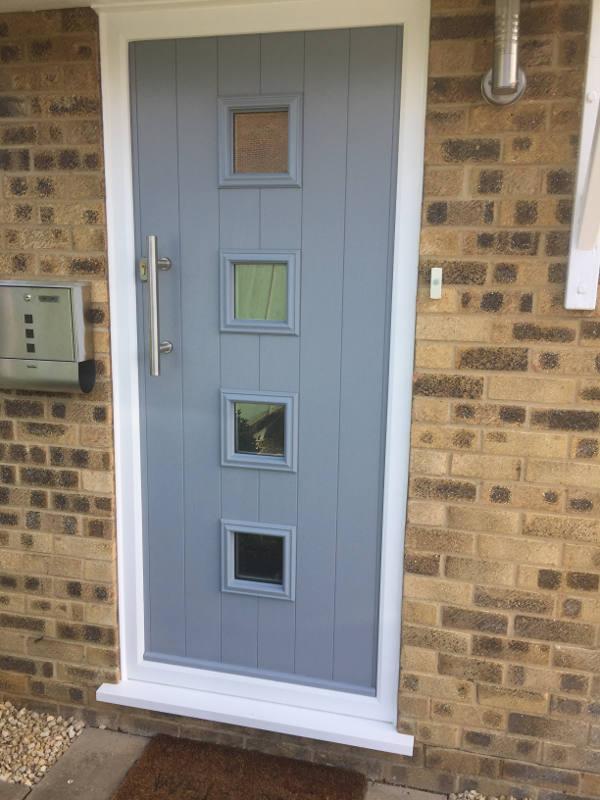 Example of a Solidor Door in light blue