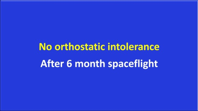 No orthostatic intolerance after spaceflight
