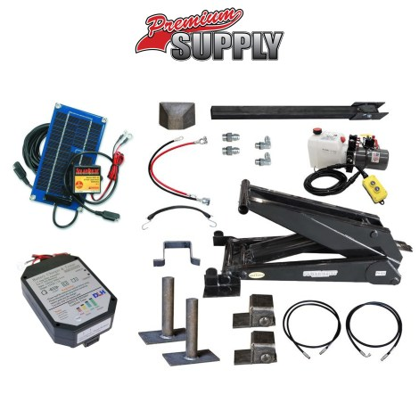 12 Ton (24,000 lb) Dump Trailer Hydraulic Scissor Hoist Kit
