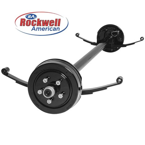 rockwell-american-3500lb-electric-brake-axle-with-springs-and-ubolts-5-lugs