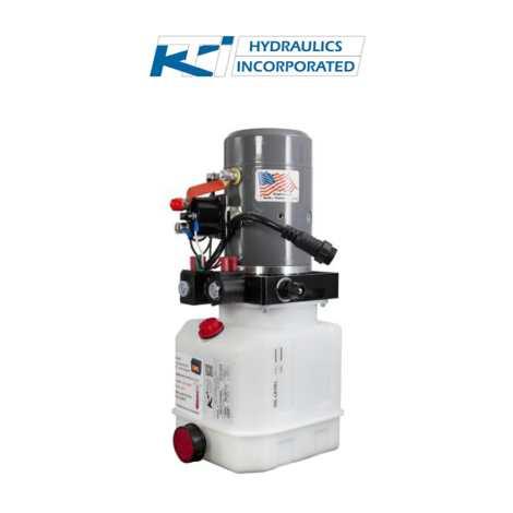 3 Quart 12v KTI Double Acting Hydraulic Pump   DC-4442