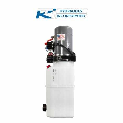 6 Quart 12V KTI Double Acting Hydraulic Pump | DC-4499