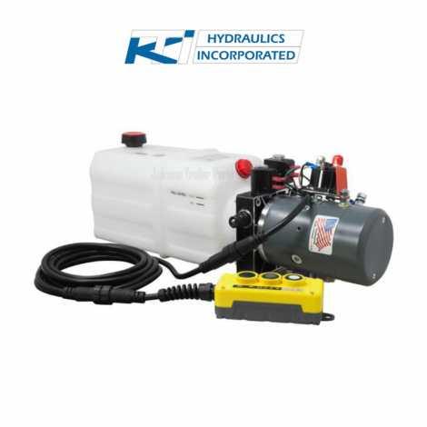 6 Quart 12V KTI Single & Double Acting Hydraulic Pump
